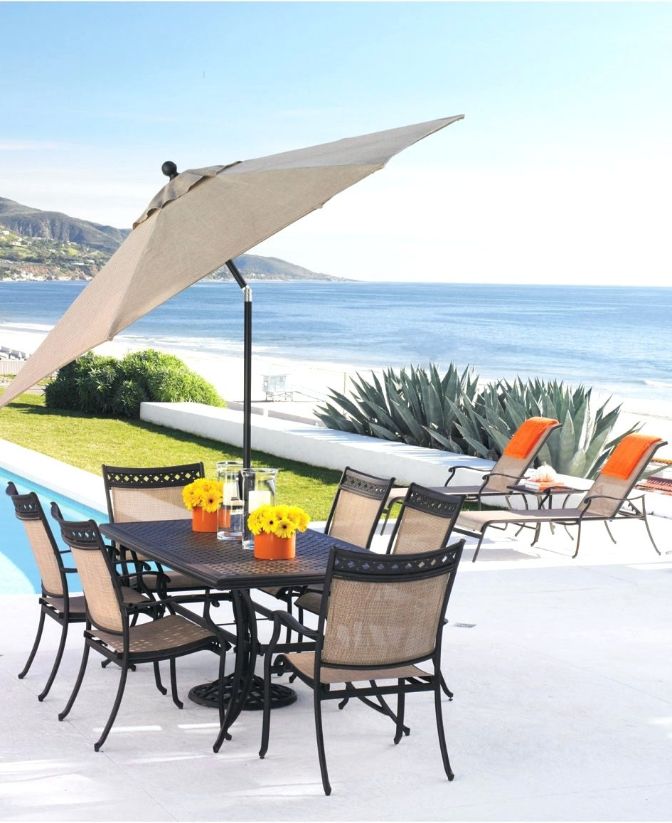 Most Current Patio Ideas ~ Outdoor Patio Umbrellas Costco Offset Patio Umbrella In Sunbrella Patio Umbrellas At Walmart (View 7 of 20)