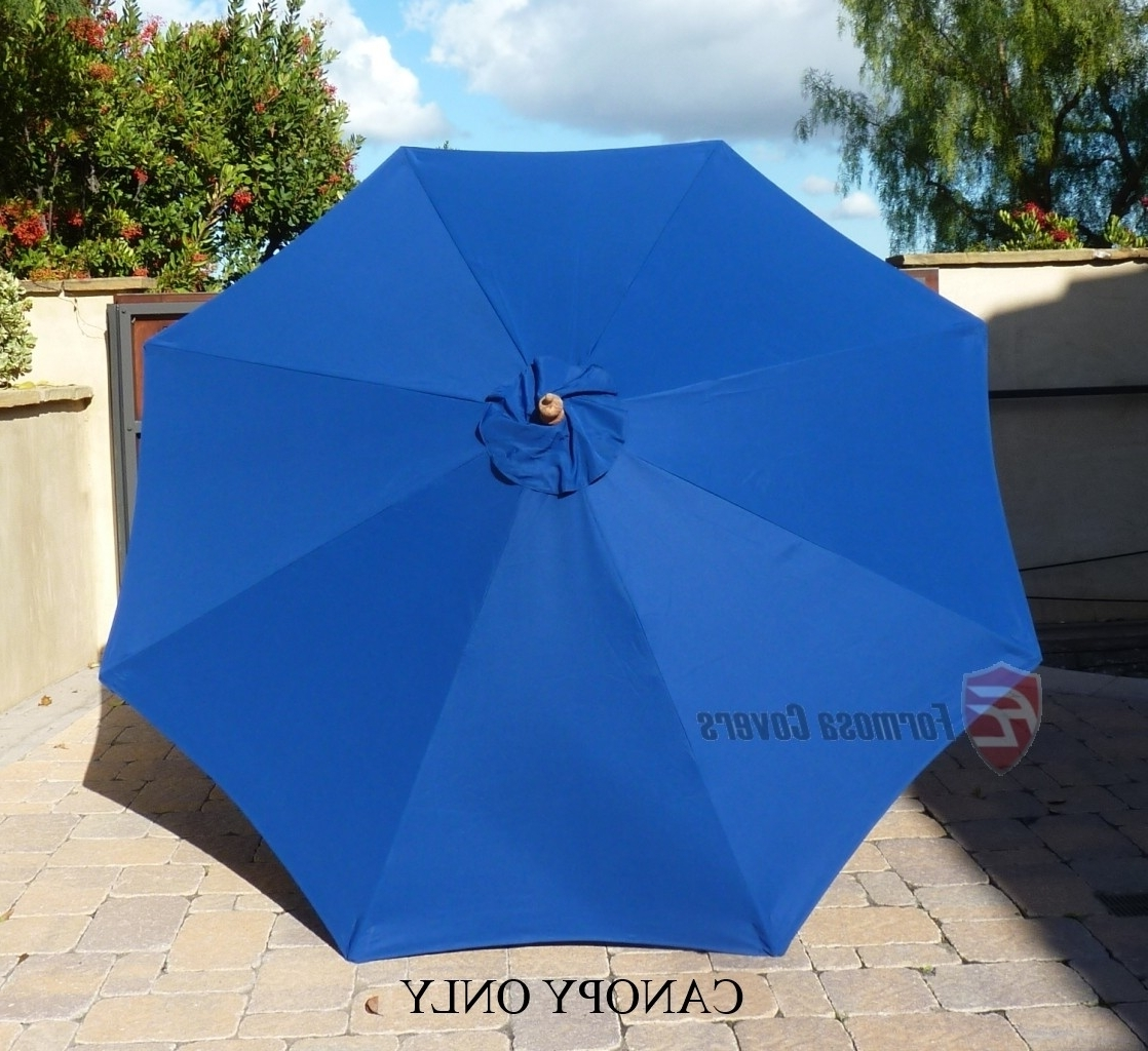 Most Current Patio Umbrella Covers In 9ft Market Patio Umbrella Replacement Cover Canopy.8 Ribs (View 6 of 20)