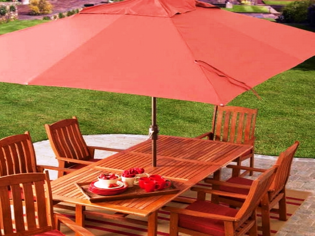 Most Current Rectangular Patio Umbrellas Regarding Interesting Patio Large Umbrella Together With Patio In Patio With (View 8 of 20)