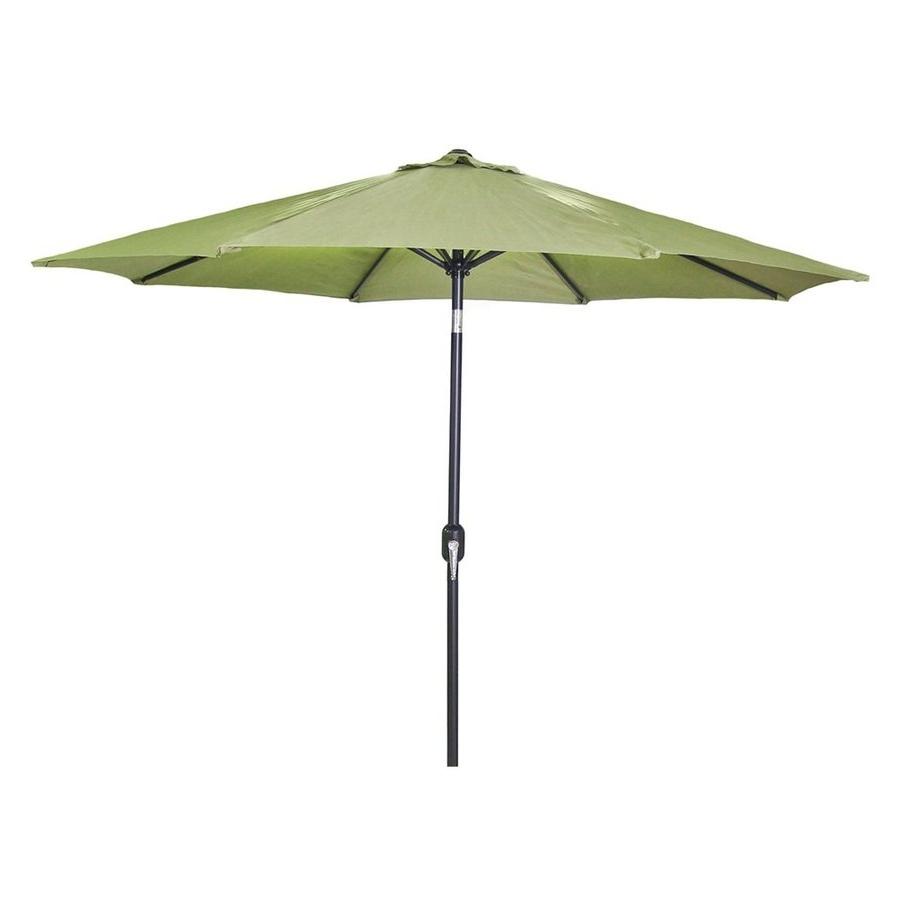 Most Current Shop Jordan Manufacturing Olive Market 9 Ft Patio Umbrella At Lowes Throughout Jordan Patio Umbrellas (View 20 of 20)