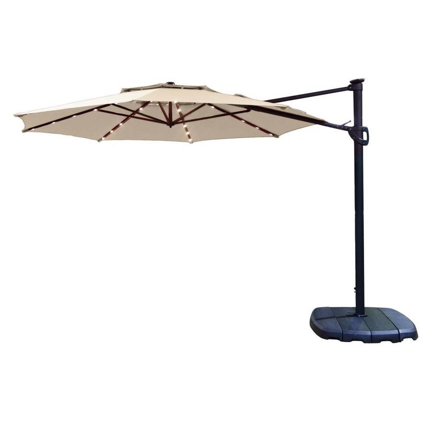 Most Current Shop Simply Shade Cantilever Umbrella Tan Offset Pre Lit 11 Ft Patio With Offset Cantilever Patio Umbrellas (View 10 of 20)