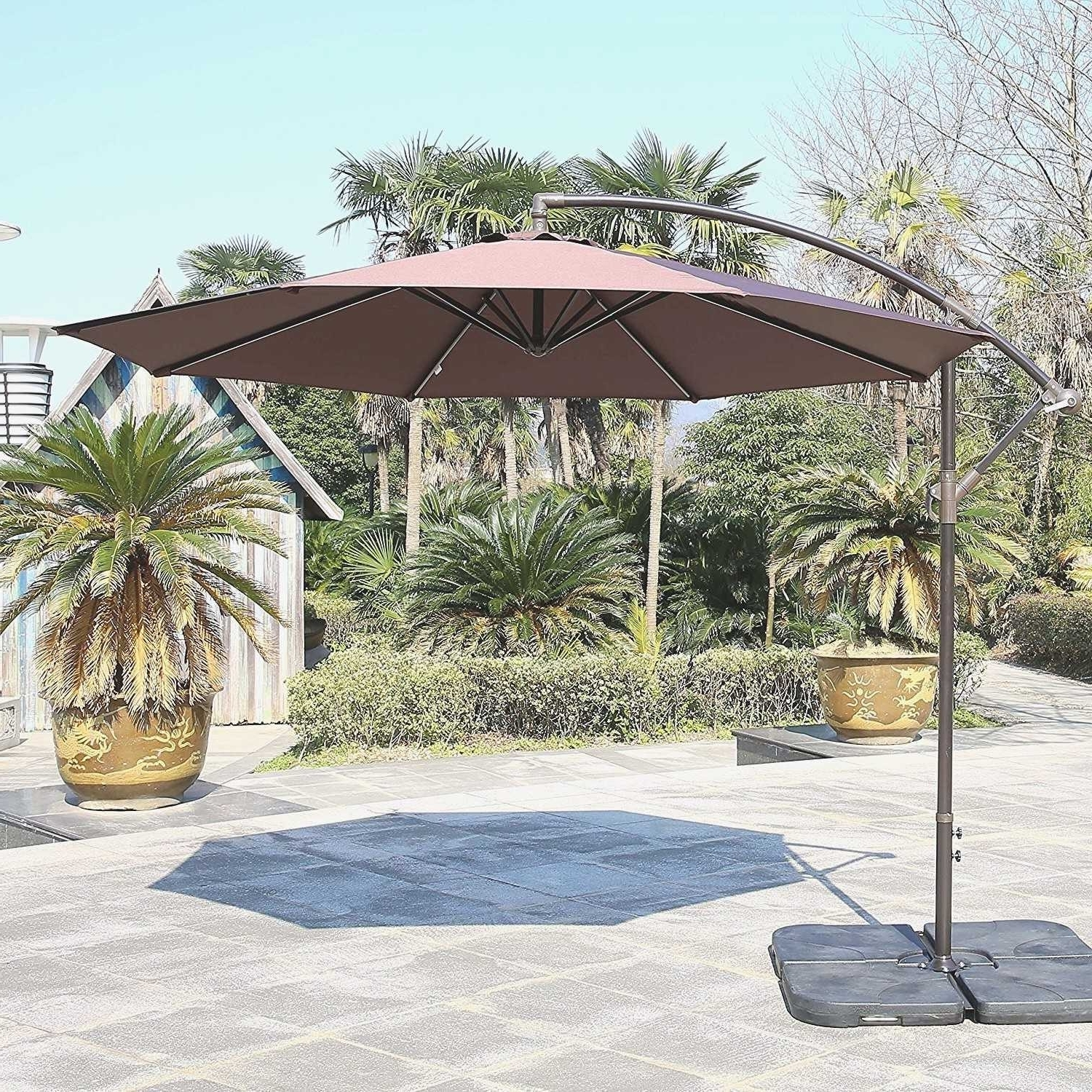 Most Current Striped Sunbrella Patio Umbrellas With Regard To Tips: Best Frontgate Umbrellas With Sunbrella Striped Patio Umbrella (View 6 of 20)