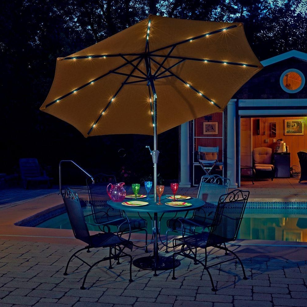 Most Current Sunbrella Patio Umbrella With Lights F16x On Most Creative Small Intended For Sunbrella Patio Umbrellas With Solar Lights (View 10 of 20)