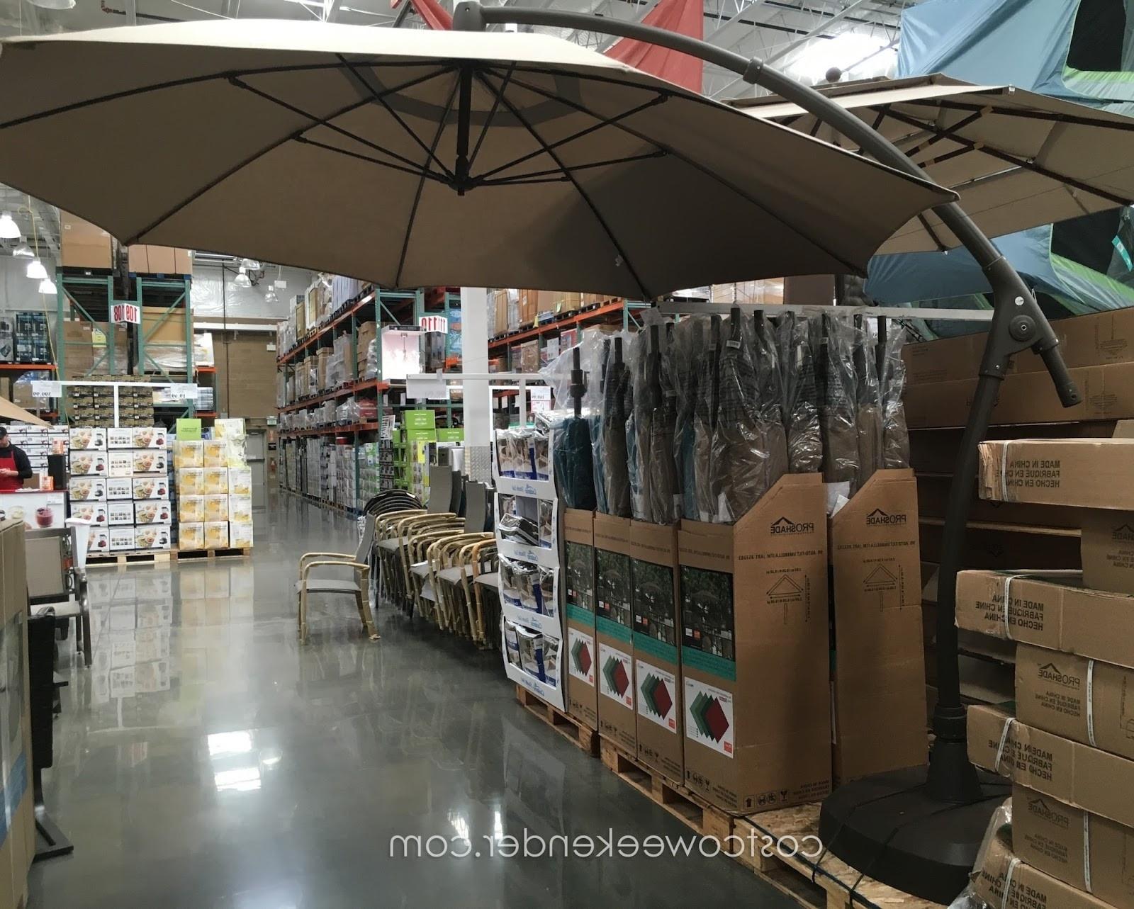 Most Current Sunbrella Patio Umbrellas At Costco Pertaining To 11 Cantilever Patio Umbrella With Base Treasure Garden Cantilever (View 6 of 20)
