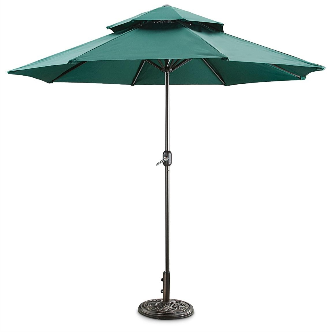 Most Current Vented Patio Umbrellas Intended For Castlecreek 9' Two Tier Patio Umbrella With Crank – 581840, Patio (View 14 of 20)