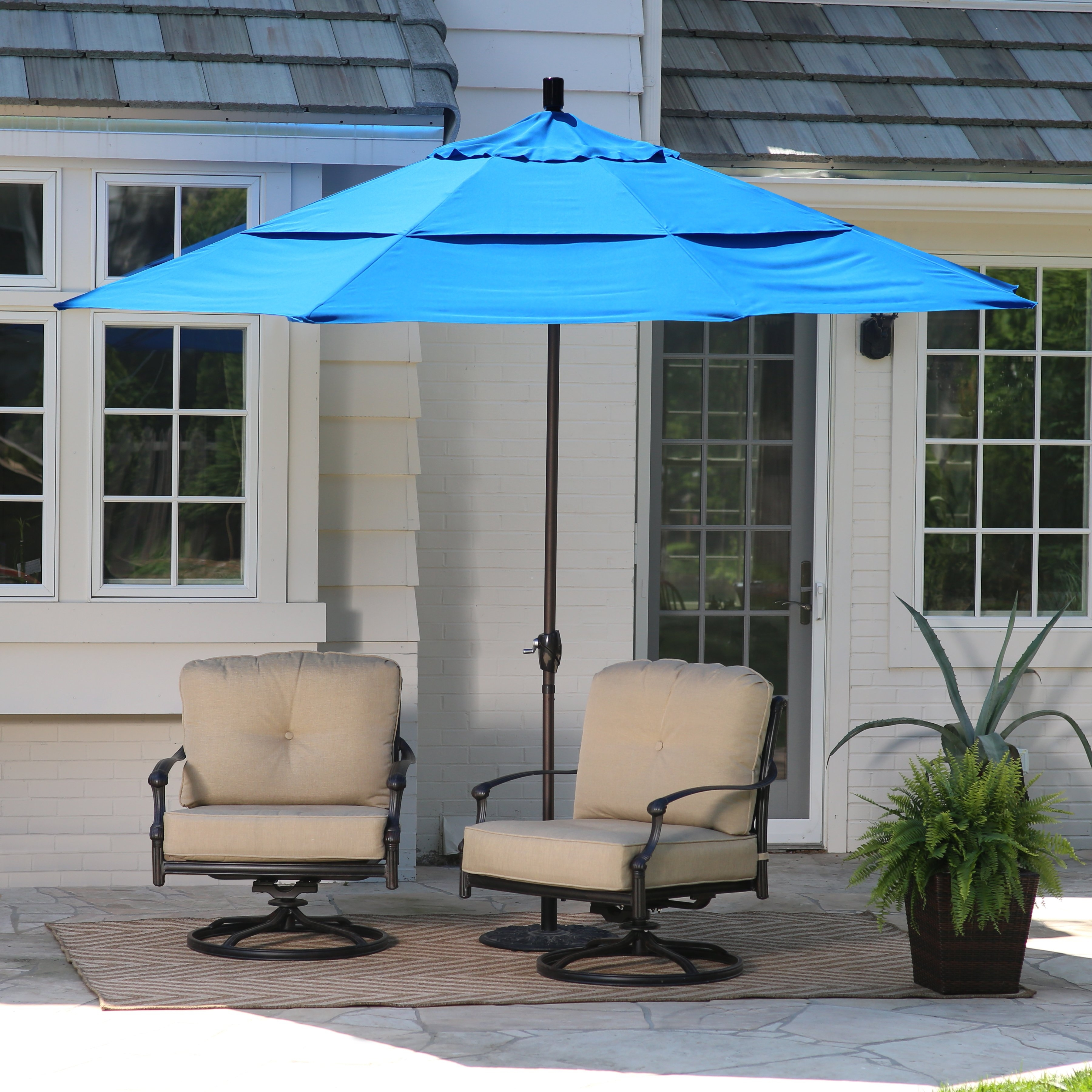 Most Popular 11 Foot Patio Umbrellas Intended For Coral Coast 11 Ft (View 4 of 20)