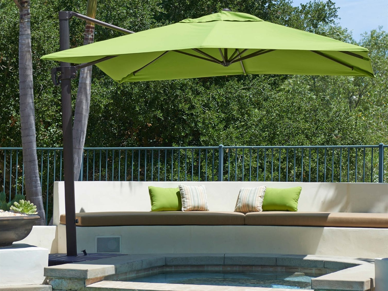 Most Popular Garden: Enchanting Outdoor Patio Decor Ideas With Patio Umbrellas With Regard To Rectangle Patio Umbrellas (View 14 of 20)