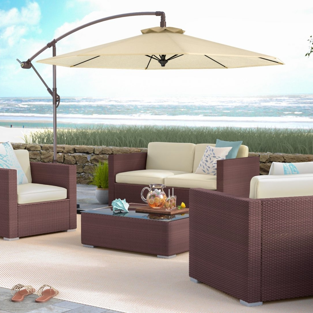 Most Popular Wayfair Patio Umbrellas With Matching Patio Umbrella And Cushions Outdoor – Awesome Home (View 8 of 20)