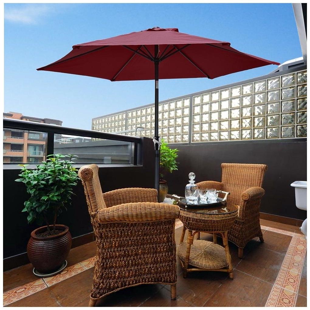 Most Popular Yescom 8ft Aluminum Outdoor Patio Umbrella With Crank Tilt Deck In Yescom Patio Umbrellas (View 3 of 20)