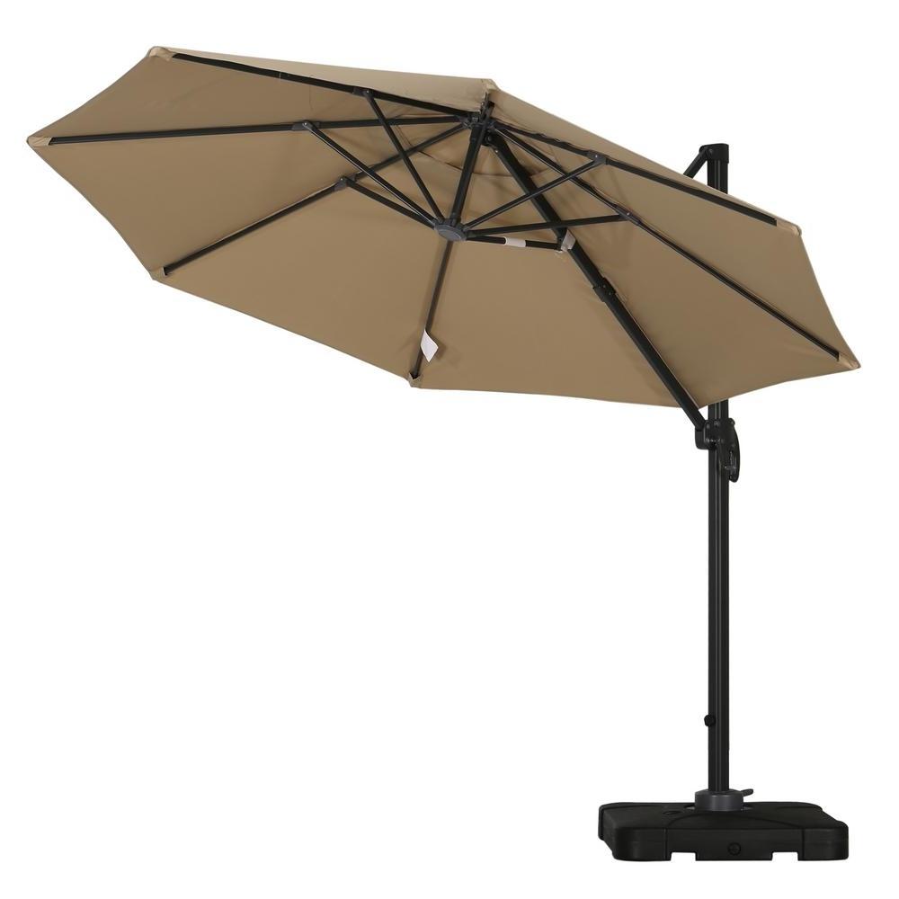 Most Recent Drape Patio Umbrellas With Noble House Durango 9 1/2 Ft (View 14 of 20)