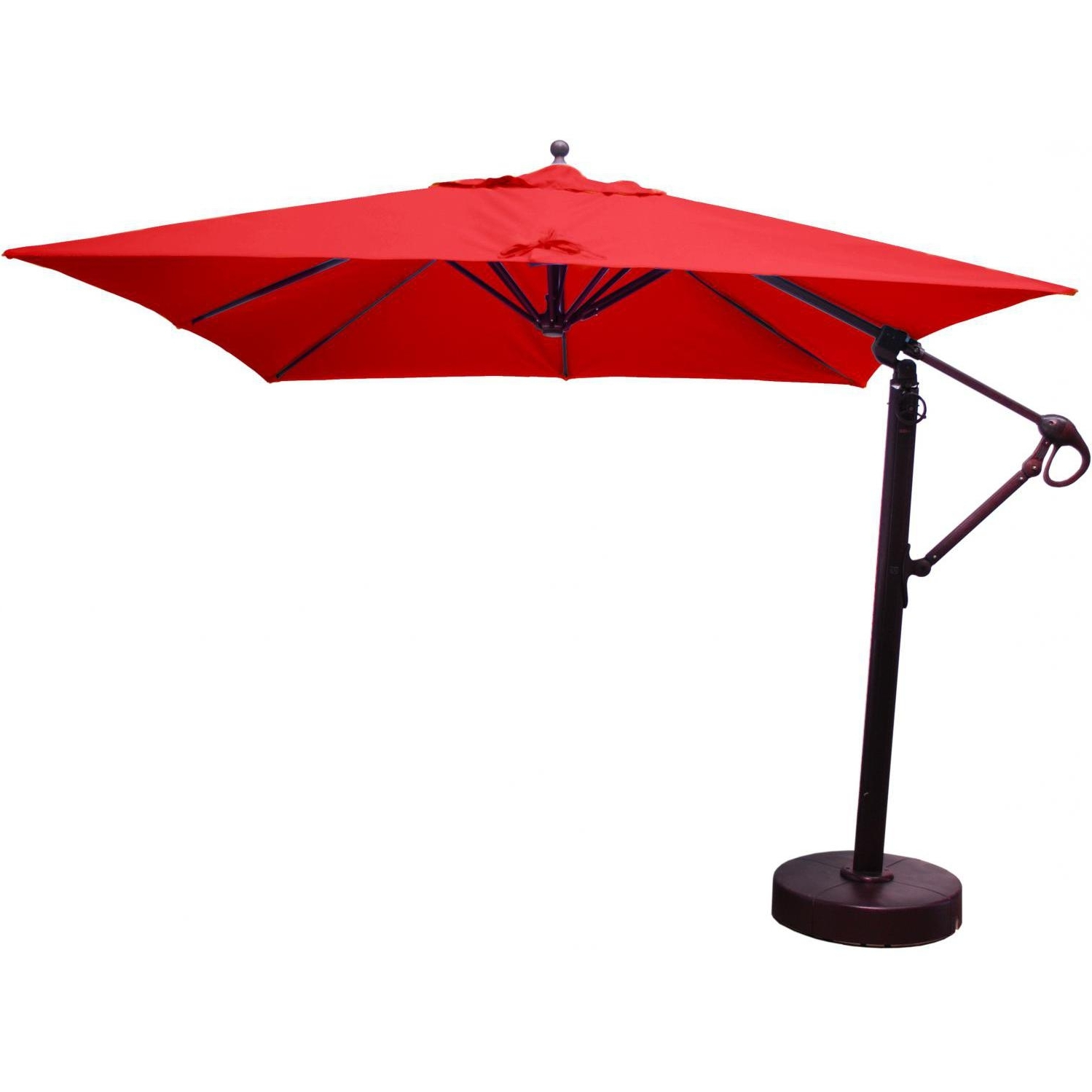 Most Recent Galtech 10 Ft Aluminum Square Cantilever Patio Umbrella With Easy With Square Patio Umbrellas (View 12 of 20)