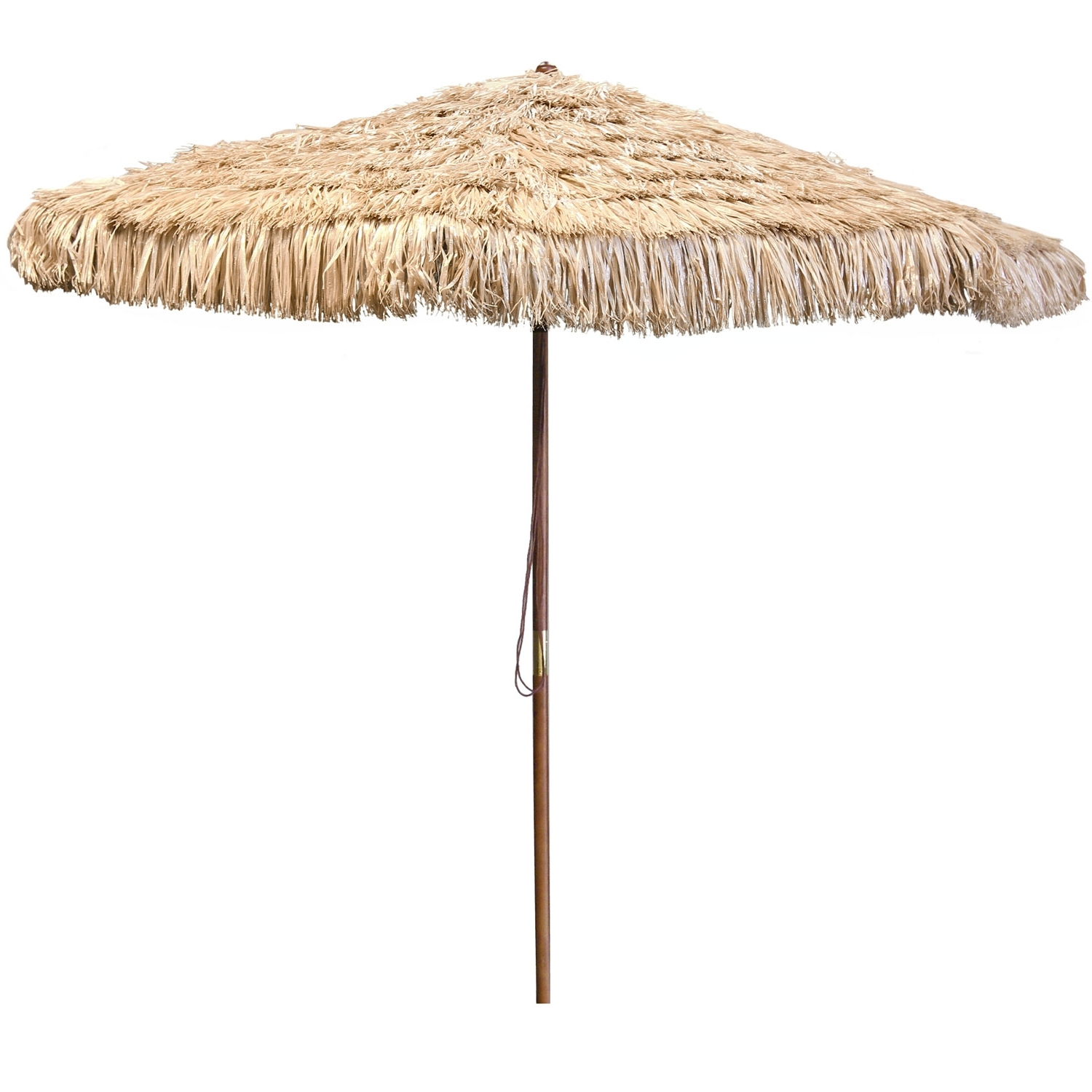 Most Recently Released Jordan Patio Umbrellas Throughout Jordan Manufacturing Company Natural Wooden Hula Umbrella Ump (View 12 of 20)