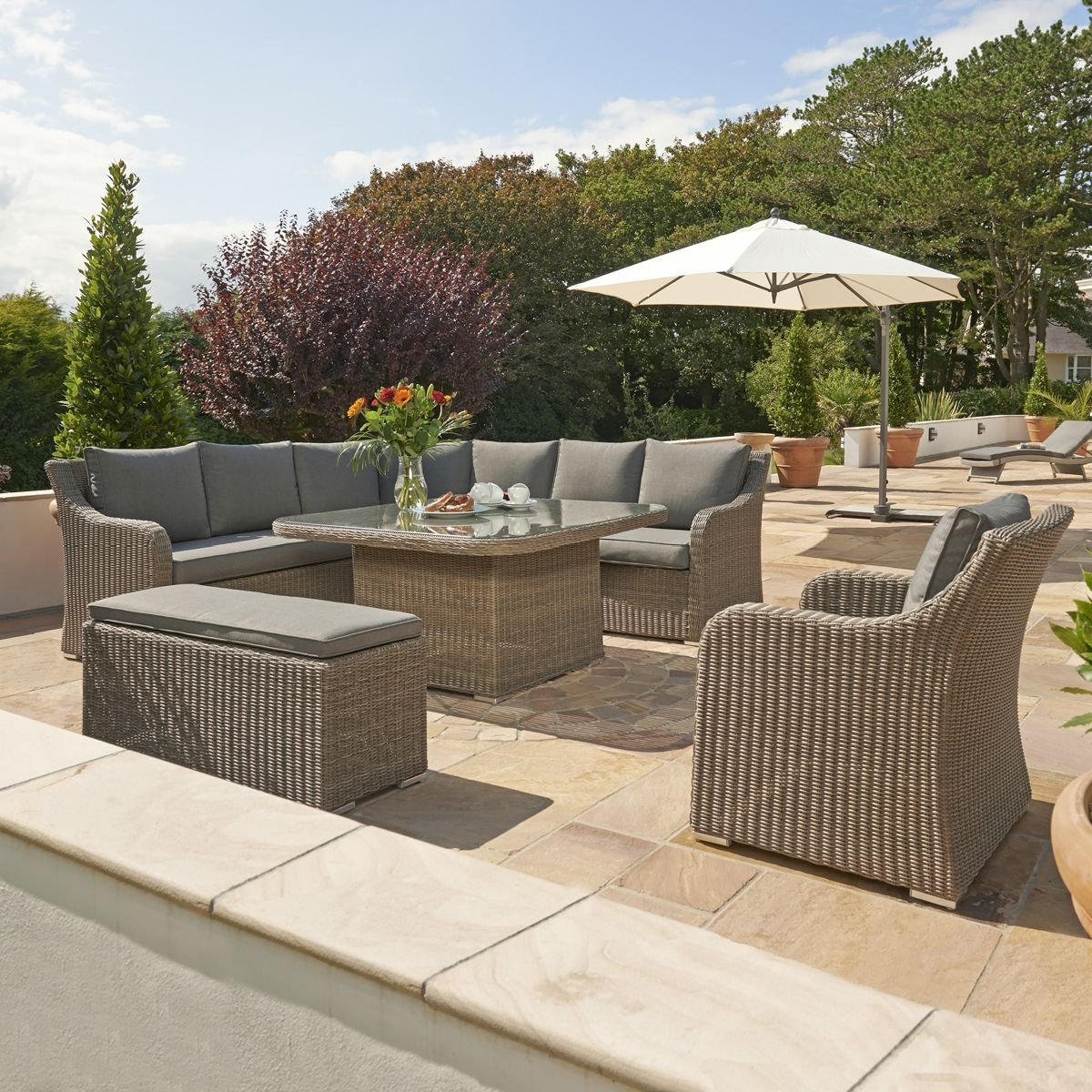 Most Recently Released Kettler Patio Umbrellas In Kettler Madrid Extra – Rattan (View 13 of 20)