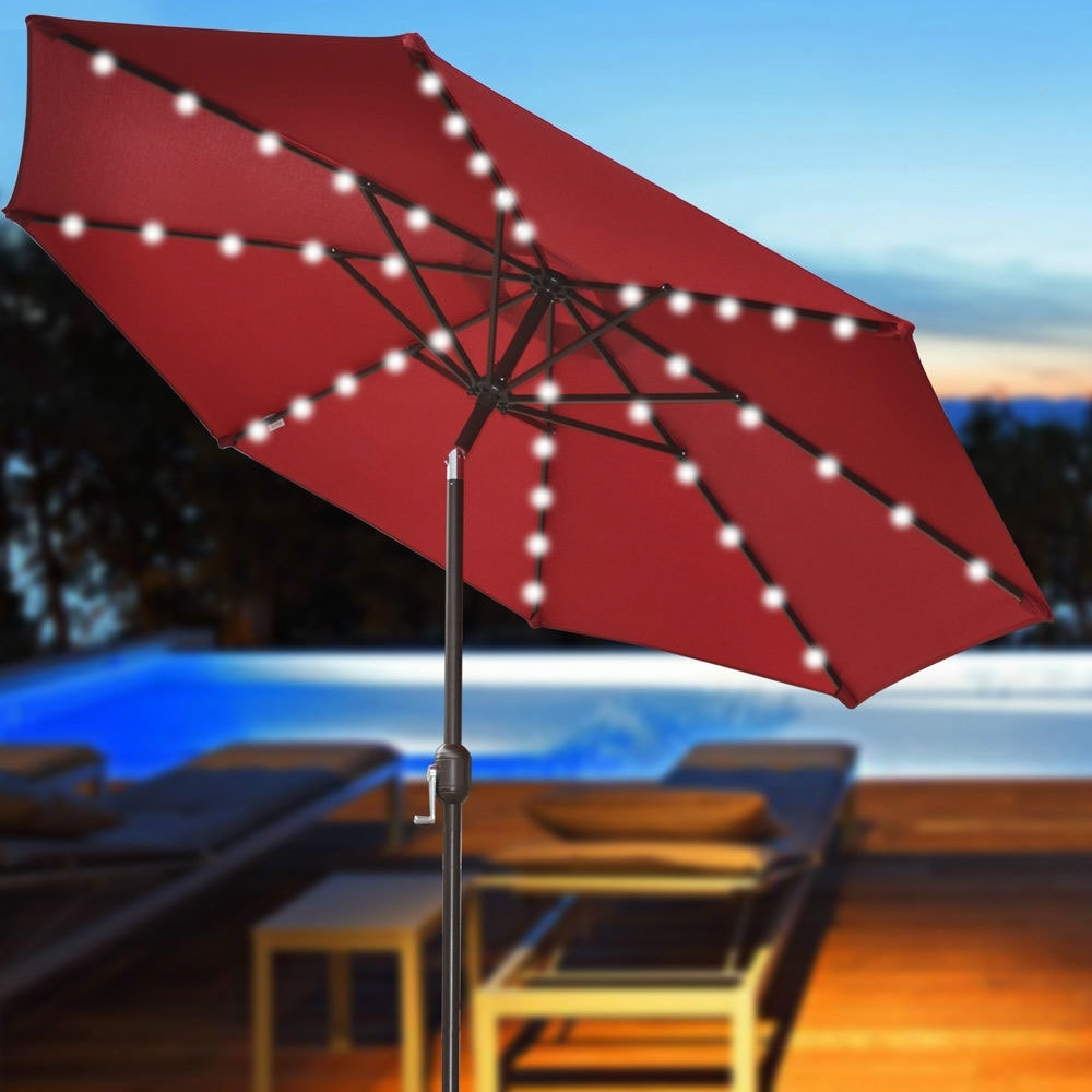 Most Recently Released Lovely Patio Umbrellas With Lights Patio Umbrellas With Solar Lights Inside Solar Patio Umbrellas (View 10 of 20)