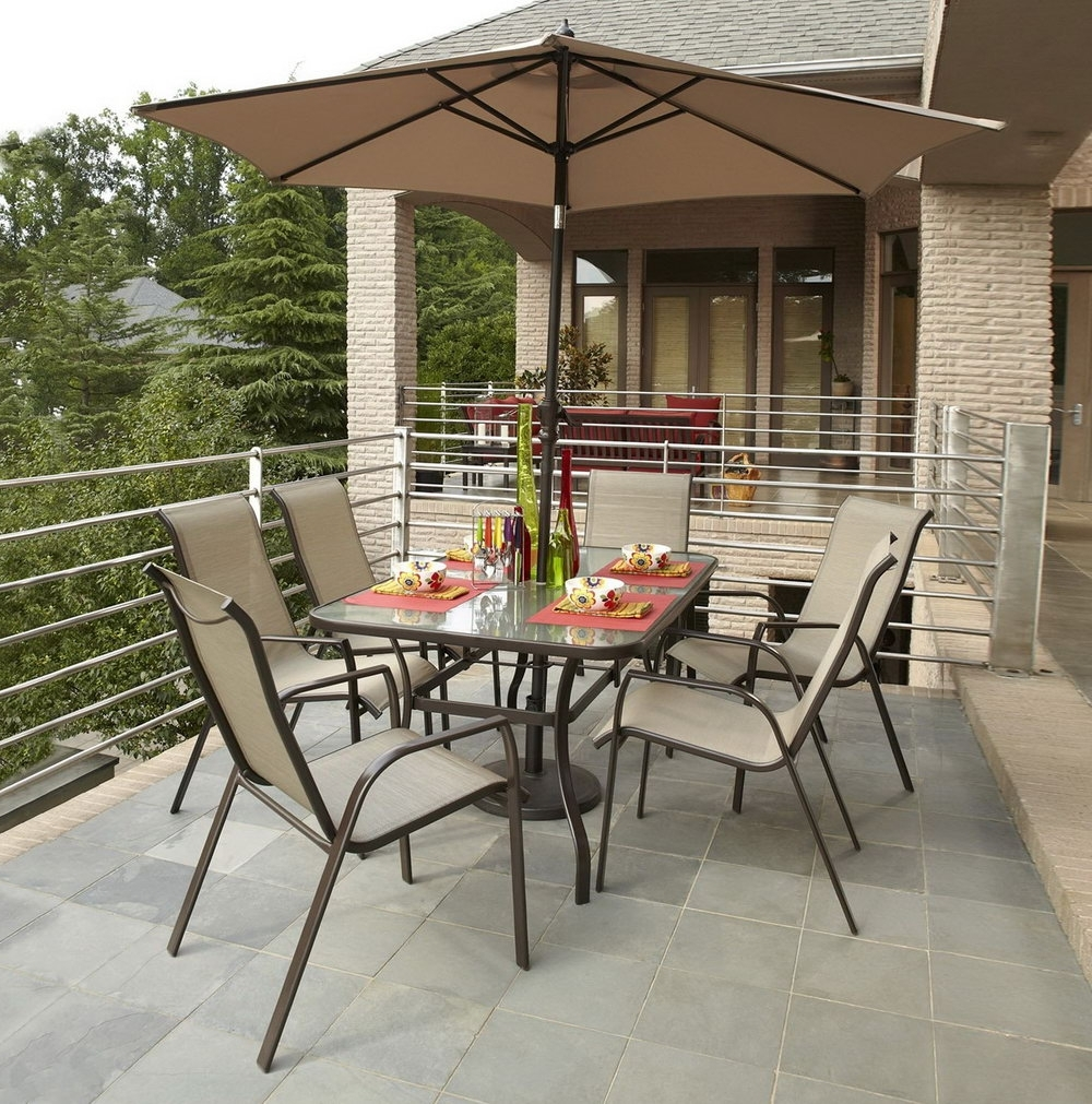 Most Recently Released Menards Patio Umbrellas Pertaining To Menards Patio Furniture Clearance Affbdc Dining Sets With Umbrella (View 12 of 20)