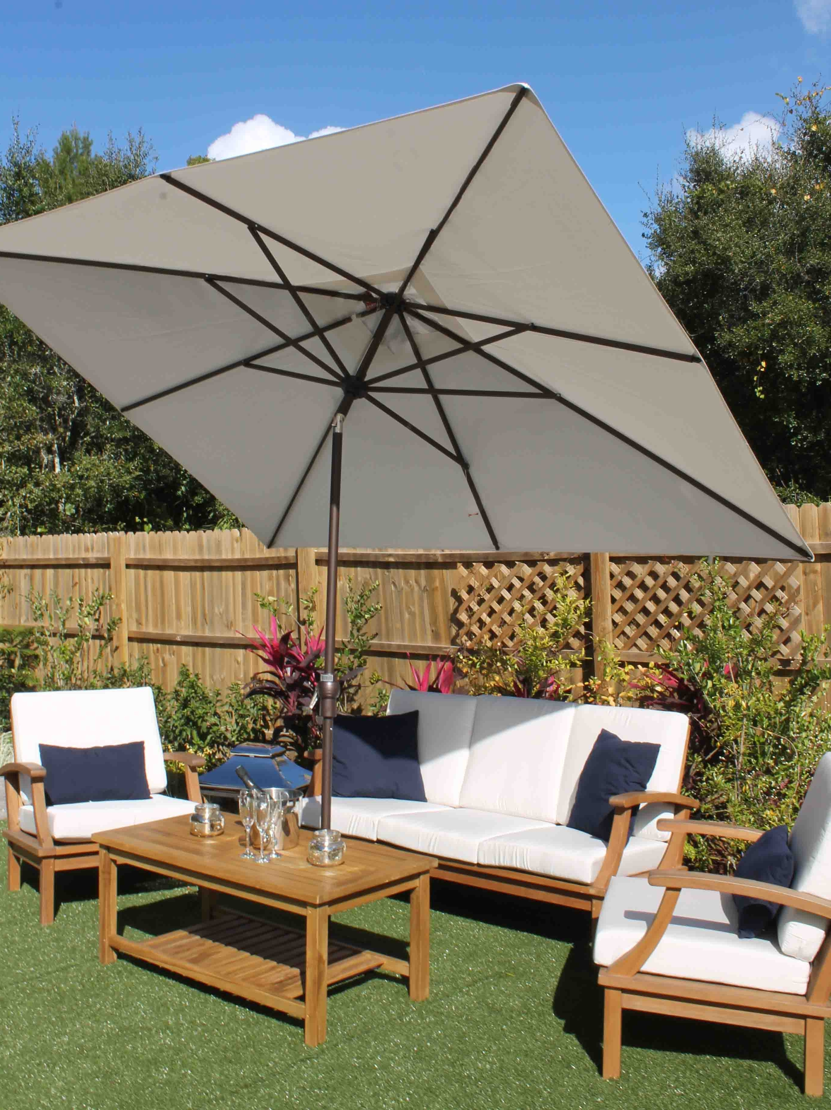 Most Recently Released Sale 8Ft X 10Ft Rectangular Umbrella – Sunbrella Fabric (View 11 of 20)