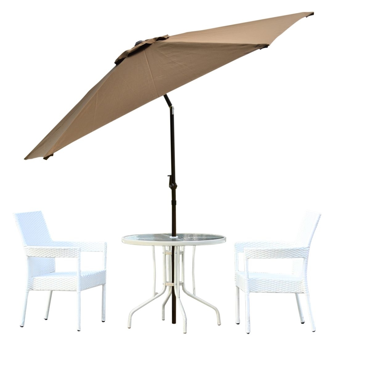 Most Up To Date Borealis Malta 9 Foot Coffee Patio Umbrella With Vented Top Tilt Pertaining To Vented Patio Umbrellas (View 9 of 20)