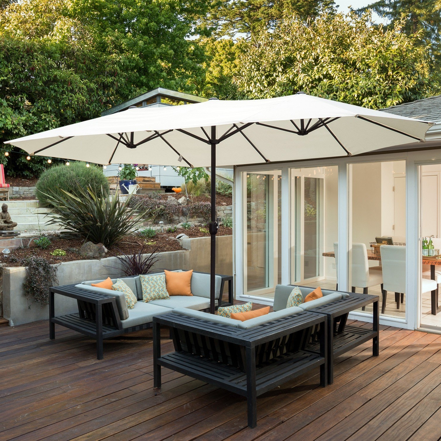 Most Up To Date Expensive Patio Umbrellas Throughout Made In The Shade: 4 Ways To Add Backyard Sun Protection (View 11 of 20)