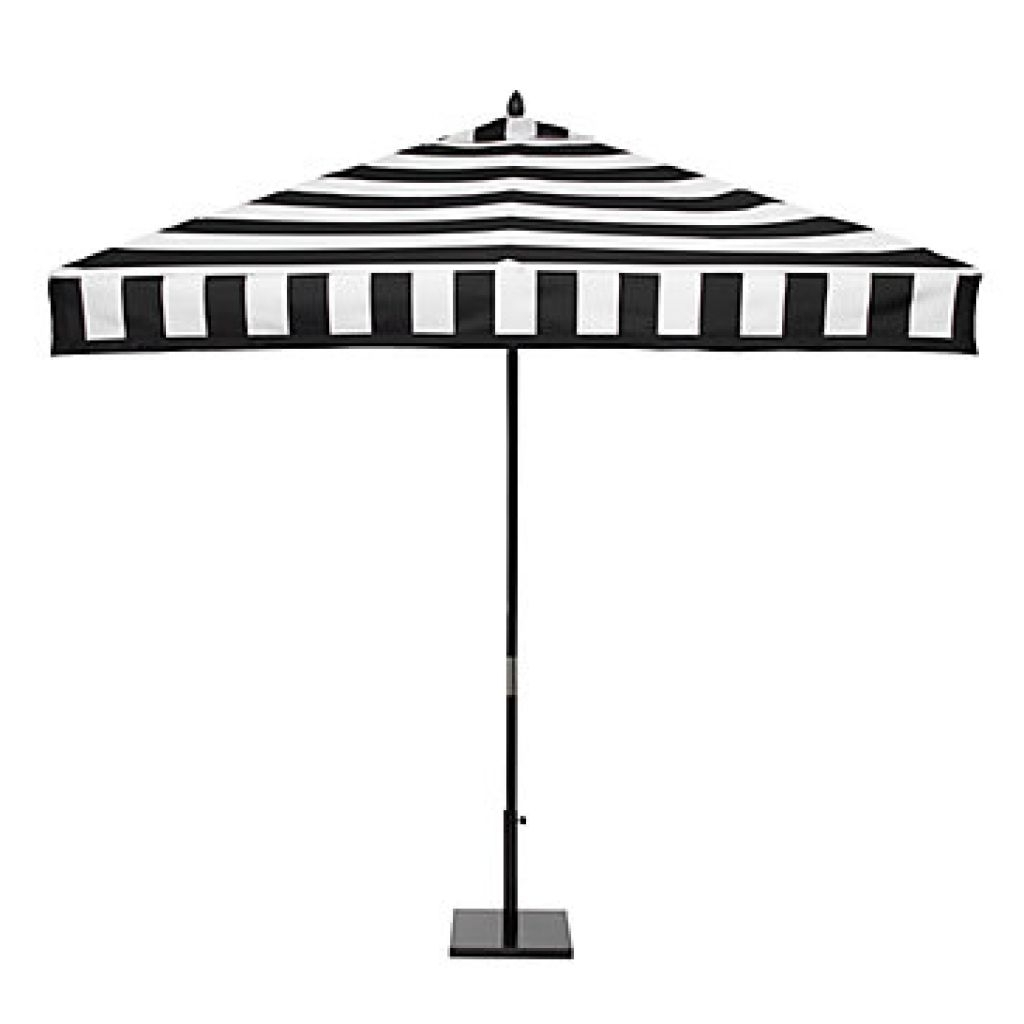 Most Up To Date Home Depot Outdoor Patio – Black And White Stripe Patio Umbrella Within Black And White Patio Umbrellas (View 15 of 20)