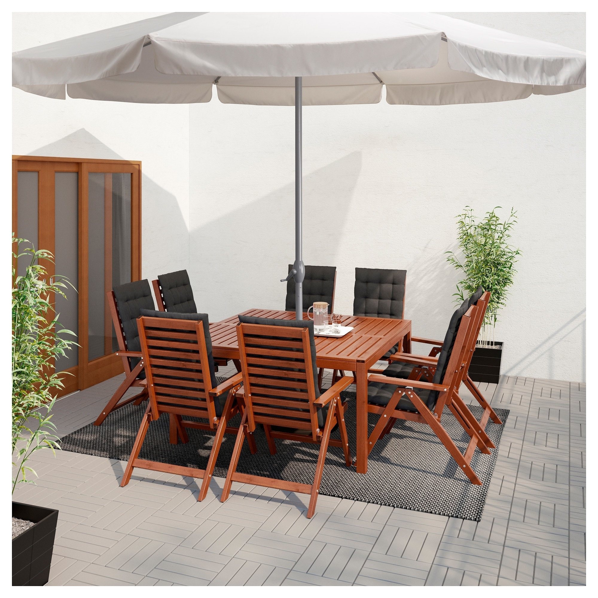 Most Up To Date Ikea Patio Umbrellas Intended For Black Canvas Patio Umbrella Inspirational Ljuster– Umbrella Ikea (View 13 of 20)