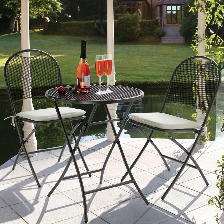 Most Up To Date Kettler Patio Umbrellas Intended For Kettler Napoli 3 Piece Wrought Iron Patio Bistro Set : Ultimate Patio (View 2 of 20)