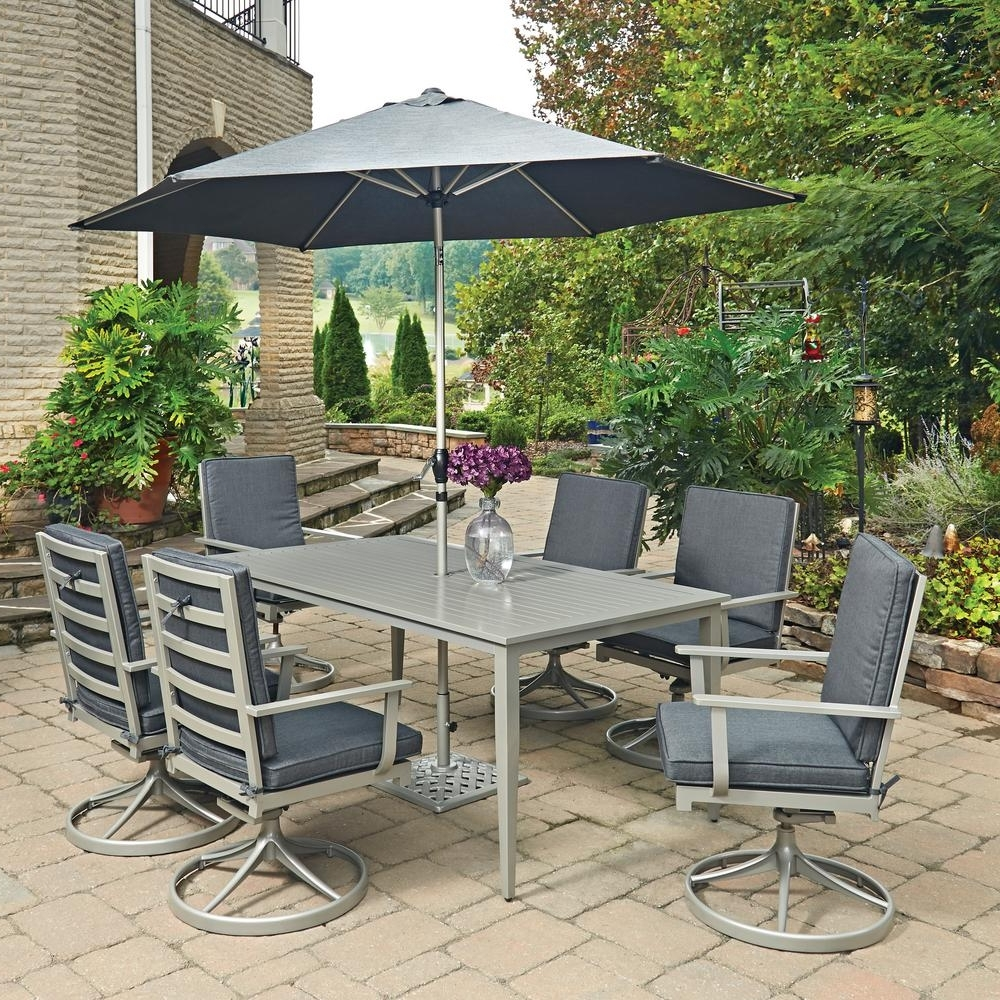 Most Up To Date Outdoor Dining Table No Umbrella Hole Furniture With Philippines Inside Patio Tables With Umbrella Hole (View 11 of 20)