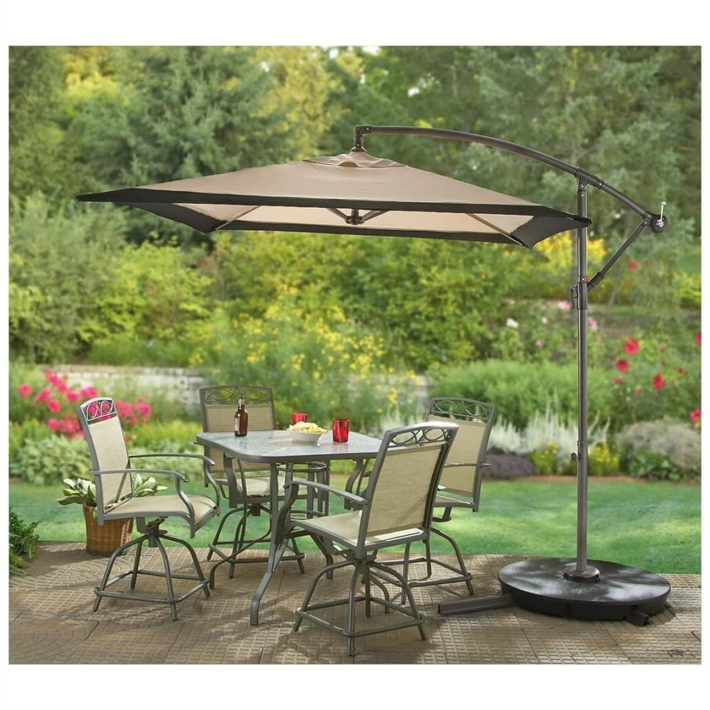 Most Up To Date Outdoor & Garden: Cantilever Patio Umbrella And Patio Table And Regarding Square Cantilever Patio Umbrellas (View 8 of 20)