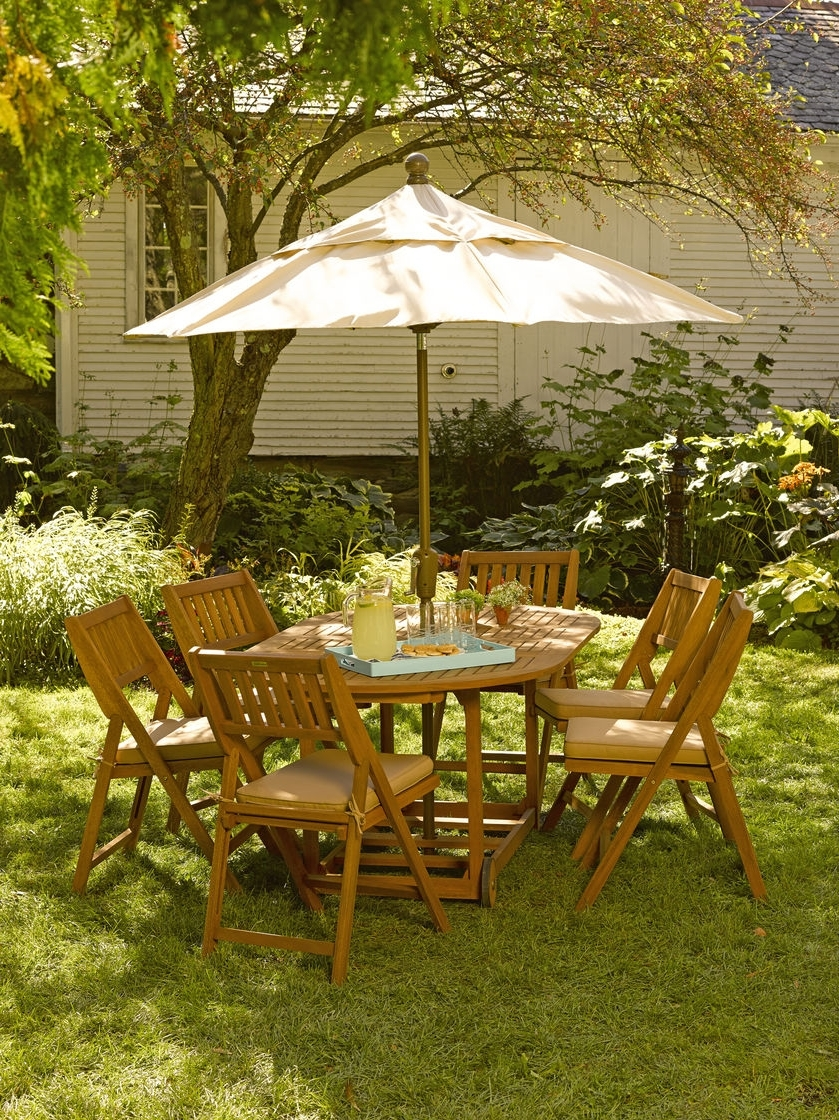 Most Up To Date Patio Table And Chairs With Umbrellas With Patio: Interesting Patio Table And Chairs With Umbrella Patio Dining (View 20 of 20)