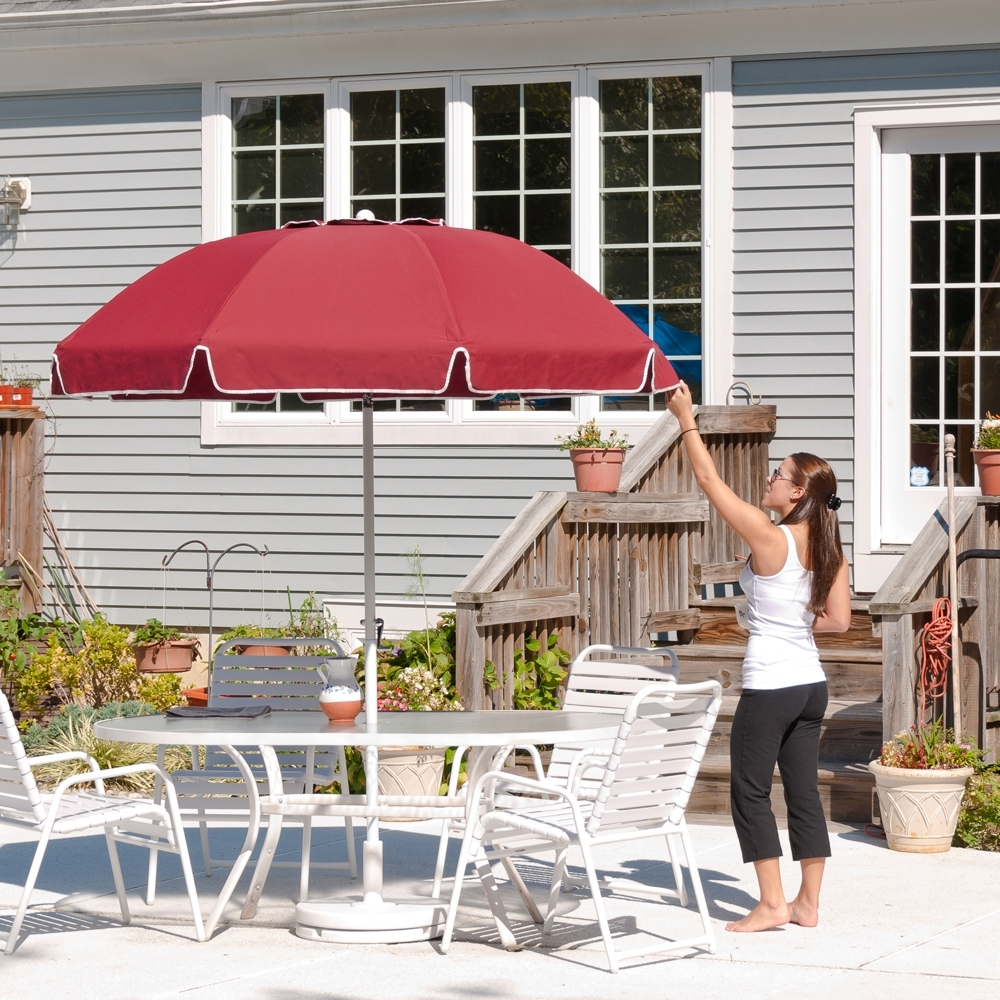 Most Up To Date Patio Umbrellas With Valance For  (View 6 of 20)