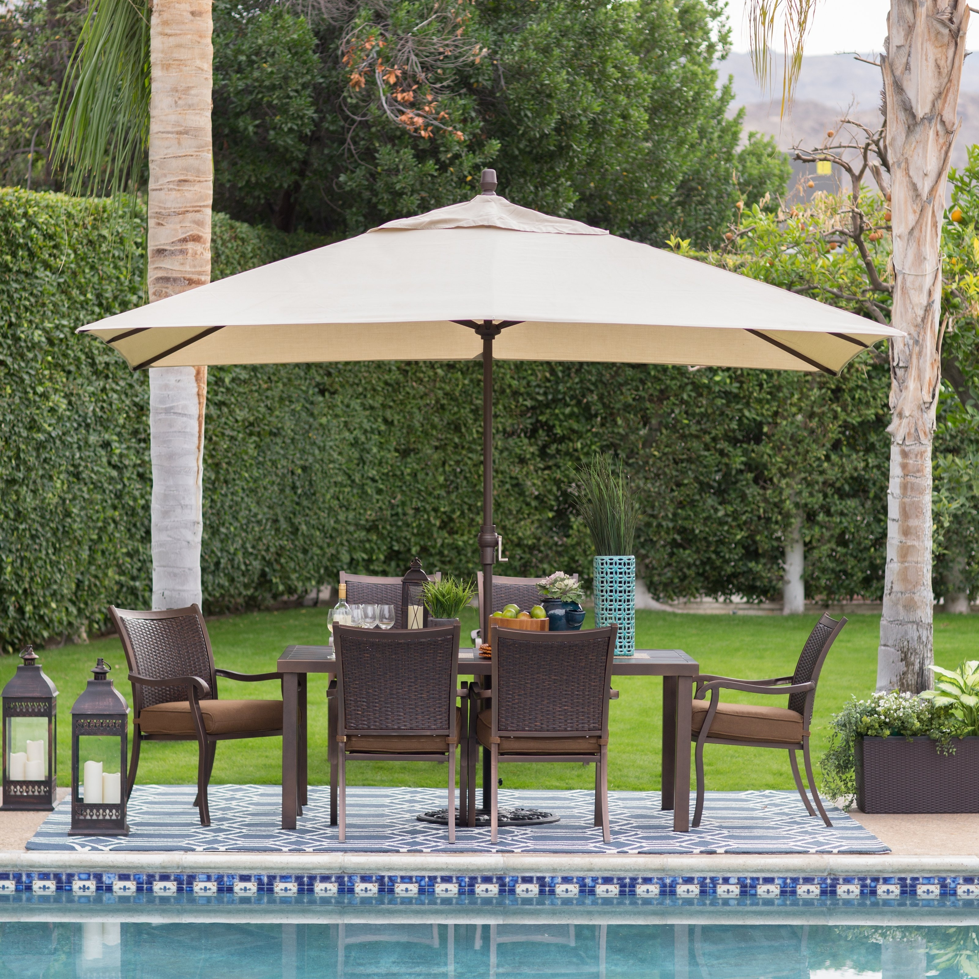 Most Up To Date Sunbrella Outdoor Patio Umbrellas With Coral Coast 8 X 11 Ft (View 8 of 20)