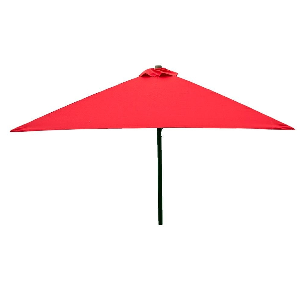 Newest Classic Wood Square Patio Umbrella – Red,  (View 6 of 20)