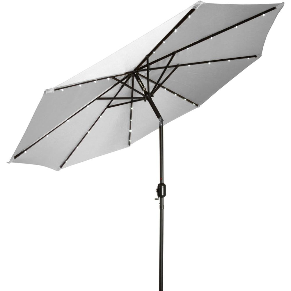 Newest Deluxe Patio Umbrellas Regarding Trademark Innovations 9 Ft. Deluxe Solar Powered Led Lighted Patio (Gallery 3 of 20)