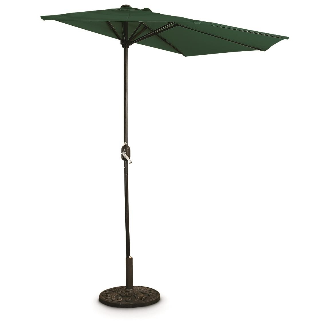 Newest Green Patio Umbrellas Within Castlecreek 8' Half Round Patio Umbrella – 235556, Patio Umbrellas (View 11 of 20)