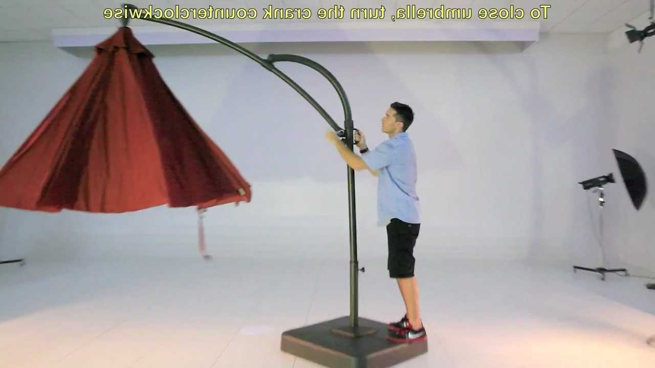 Newest Kohls 10.5 Ft Solar Offset Umbrella – Youtube For Kohls Patio Umbrellas (Gallery 1 of 20)