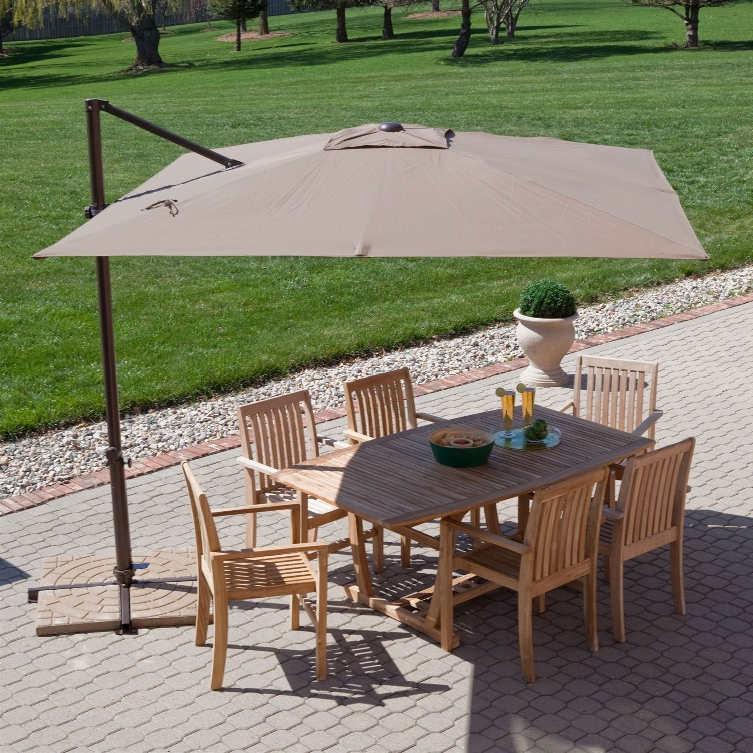 Newest Patio Deck Umbrellas Throughout Cantilever Square Parasol We At Versatile Shading Solutions Supply (View 11 of 20)