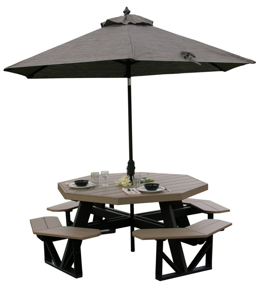 Newest Patio Tables With Umbrella Hole For Patio Table: Patio Table Umbrella Tablecloth Best Patio Table (Gallery 12 of 20)