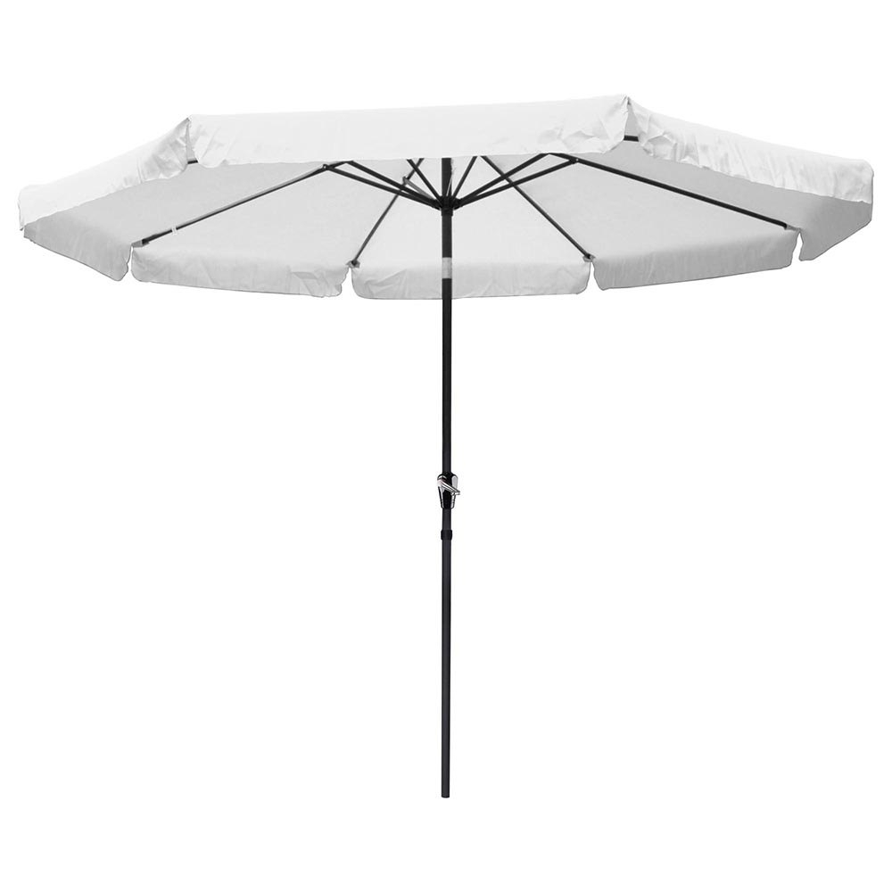 Newest Patio Umbrellas With Valance Regarding Yescomusa: 10' Aluminum Outdoor Patio Umbrella W/ Valance Crank Tilt (View 3 of 20)