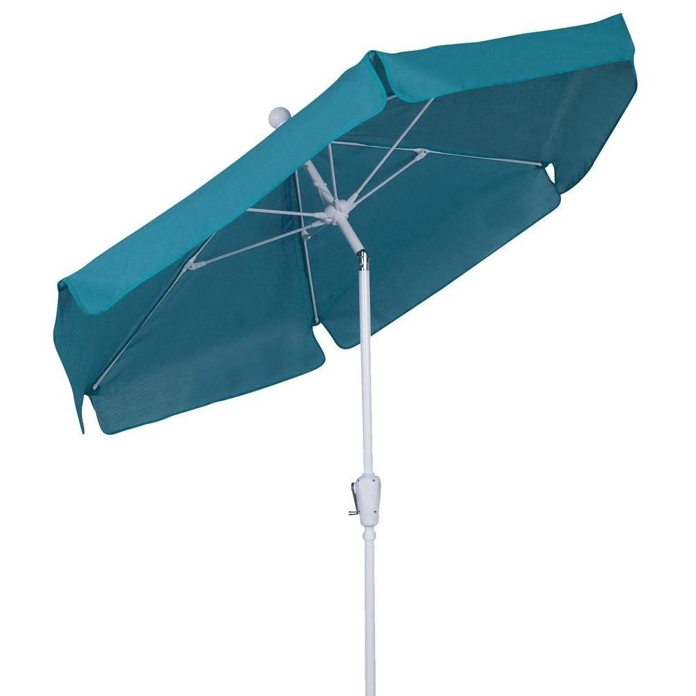 Newest Patio Umbrellas With White Pole Inside Fiberbuilt Umbrellas 7.5 Ft (View 3 of 20)