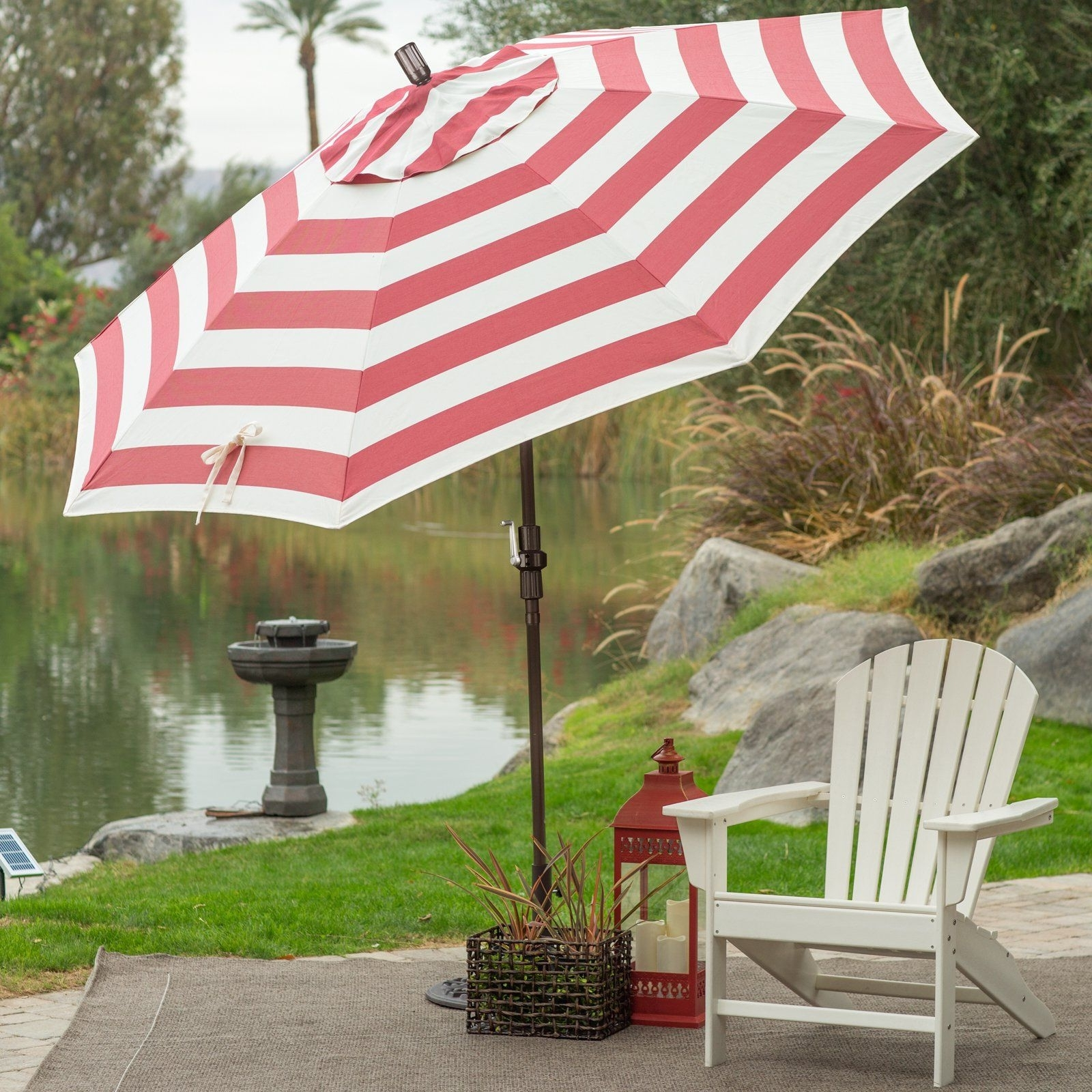 Newest Patterned Patio Umbrellas With Coral Coast 7.5 Ft. Olefin Fashion Wind Resistant Patio Umbrella (Gallery 13 of 20)