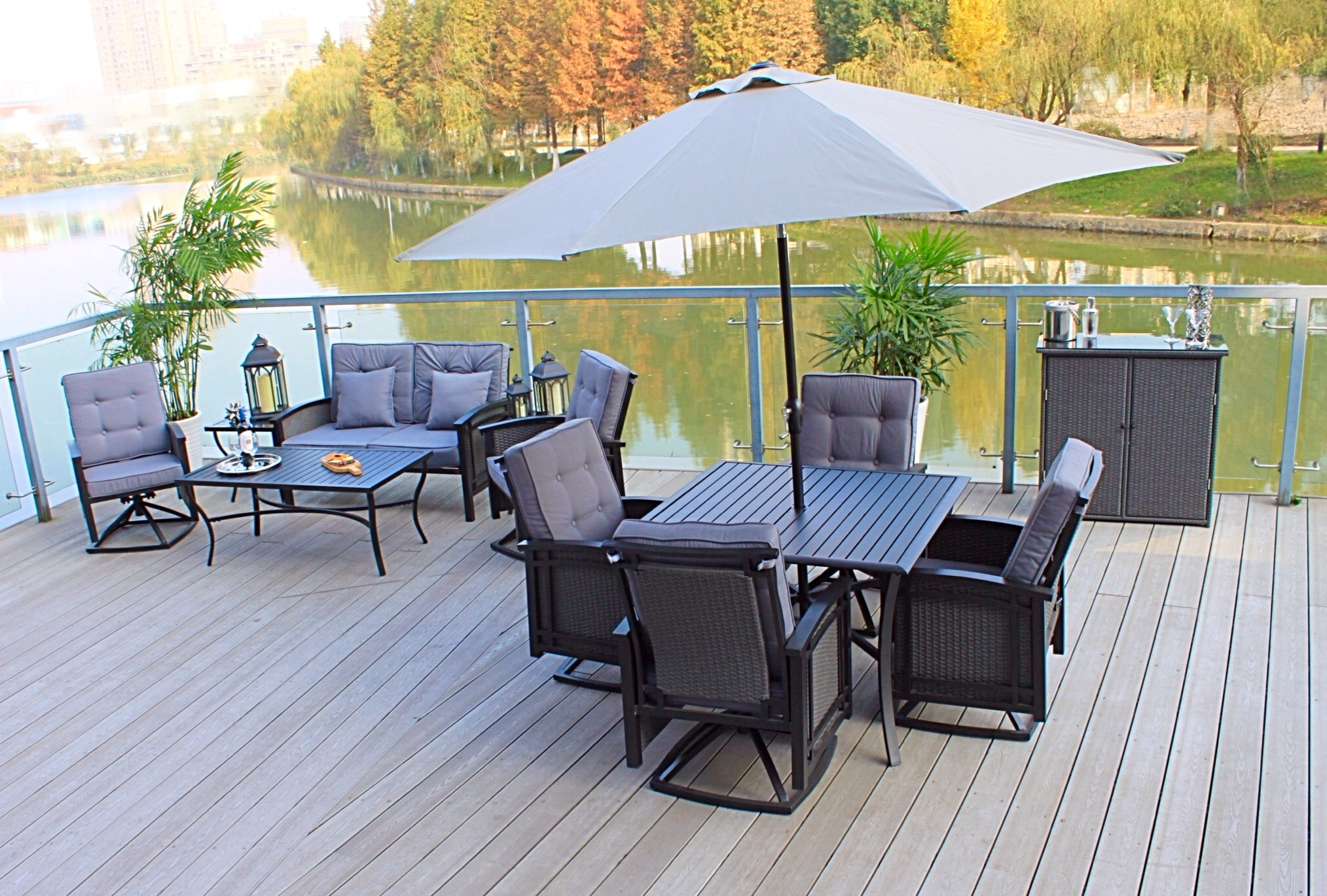 Newest Pebble Lane Living With Regard To Patio Dining Umbrellas (View 6 of 20)