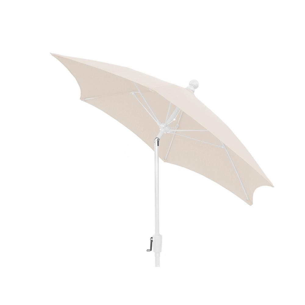 Newest White Patio Umbrellas Pertaining To 7.5 Ft (View 9 of 20)