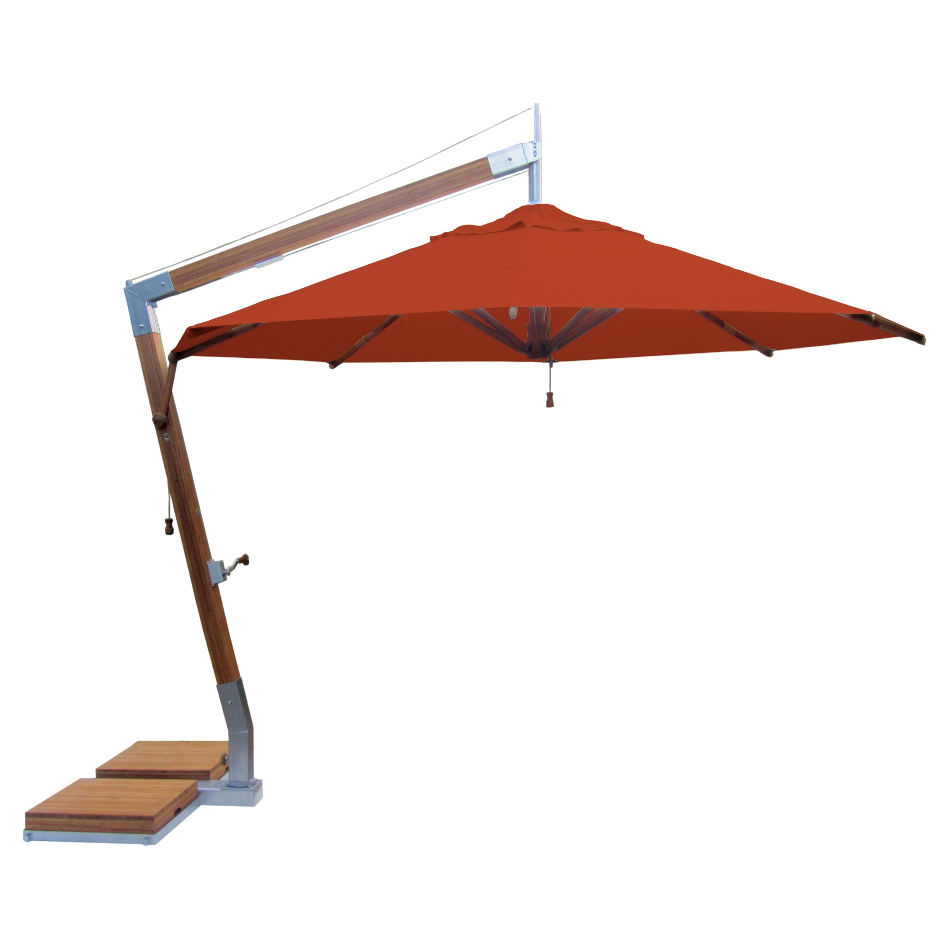 Offset Cantilever Patio Umbrellas With 2019 Furniture: Contemporary Patio Orange Offset Patio Umbrellas At Hayneedle (View 17 of 20)