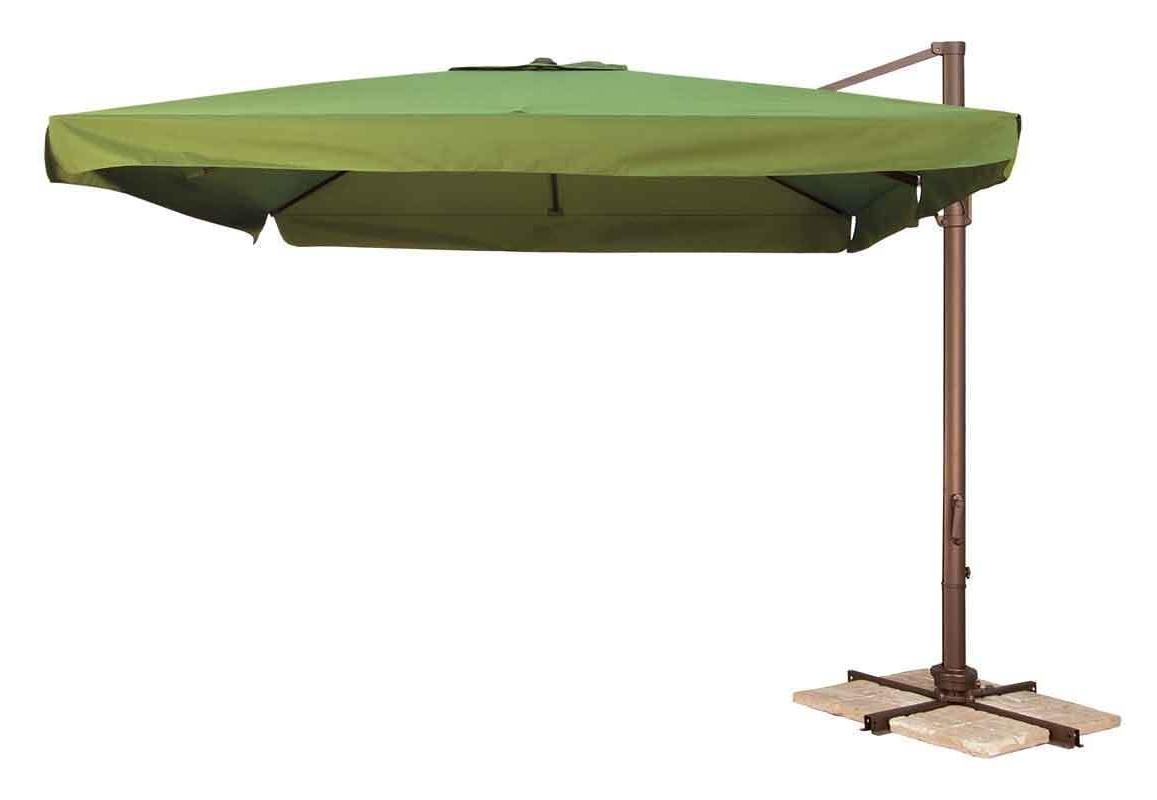 Offset Patio Umbrellas With Base With Regard To Widely Used Marvelous Offset Patio Umbrellas Fiberbuilt Umbrellas Target Offset (View 14 of 20)