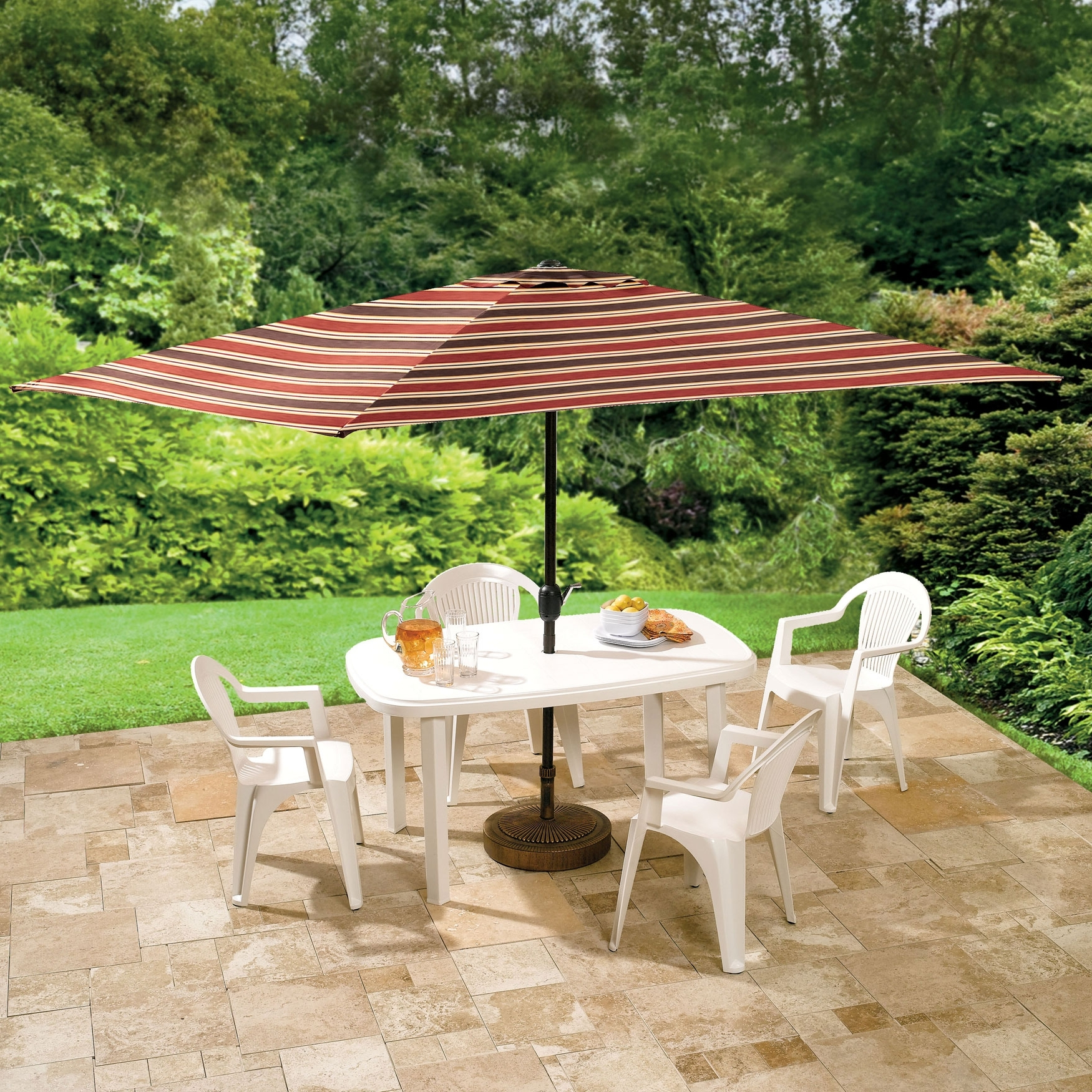 Offset Rectangular Patio Umbrella : Rectangular Patio Umbrella Intended For Popular Offset Rectangular Patio Umbrellas (View 18 of 20)