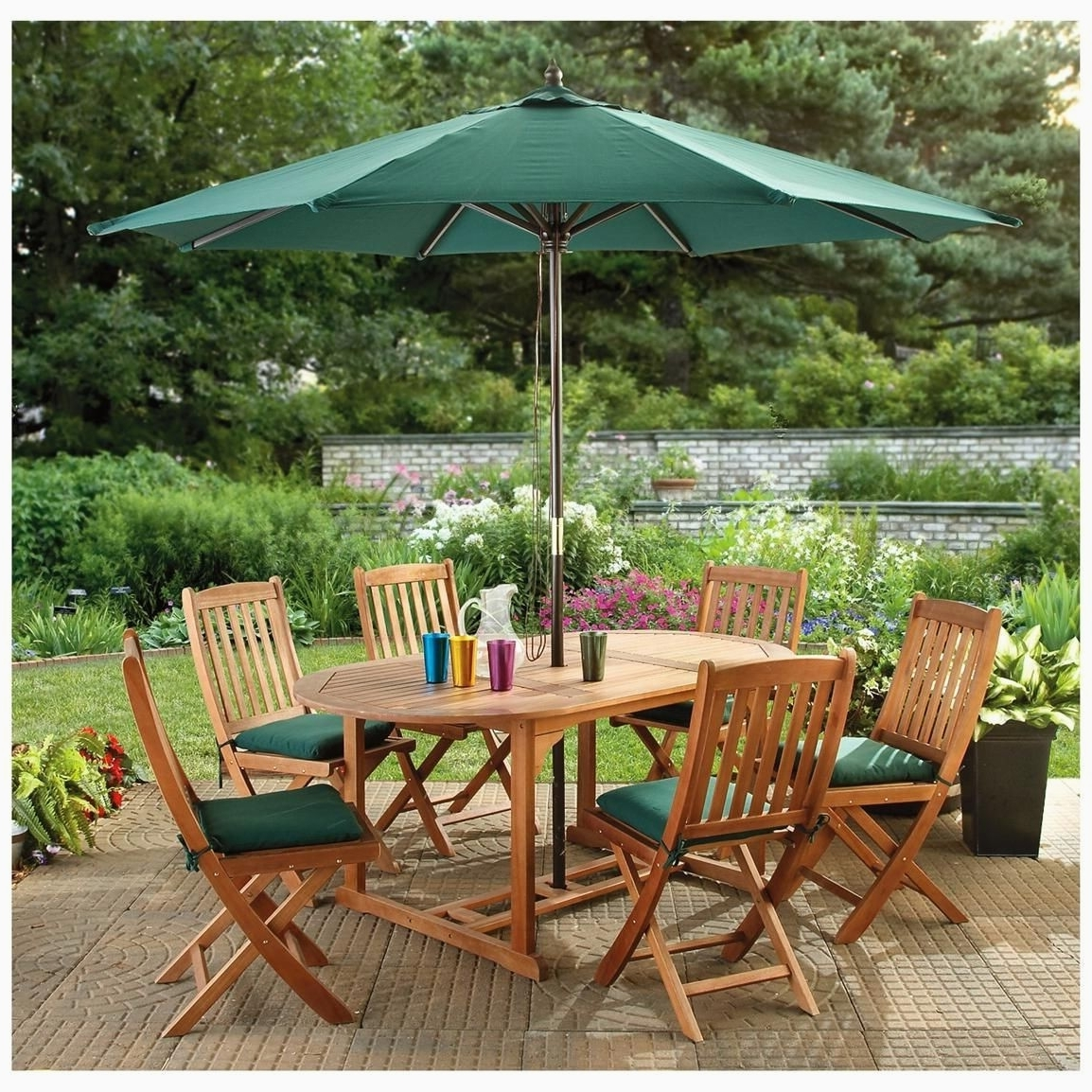 Outdoor Dining Table With Umbrella Hole Awesome Fantastic Patio For Popular Patio Tables With Umbrella Hole (View 10 of 20)