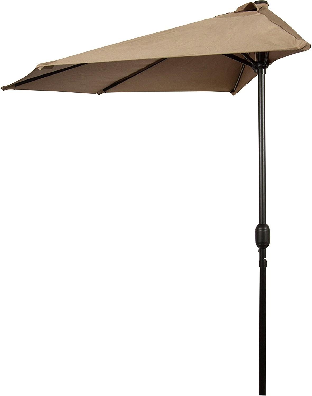 Outdoor & Garden: Amazon Com Patio Half Patio Umbrellas For Famous Amazon Patio Umbrellas (View 17 of 20)