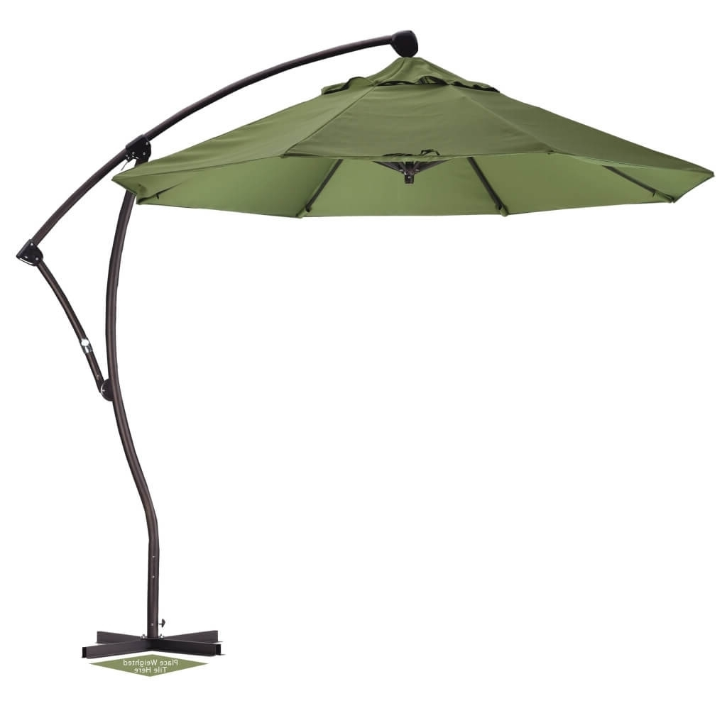 Outdoor & Garden: Green Patio Cantilever Umbrella – Best Cantilever For Well Liked Green Patio Umbrellas (View 7 of 20)