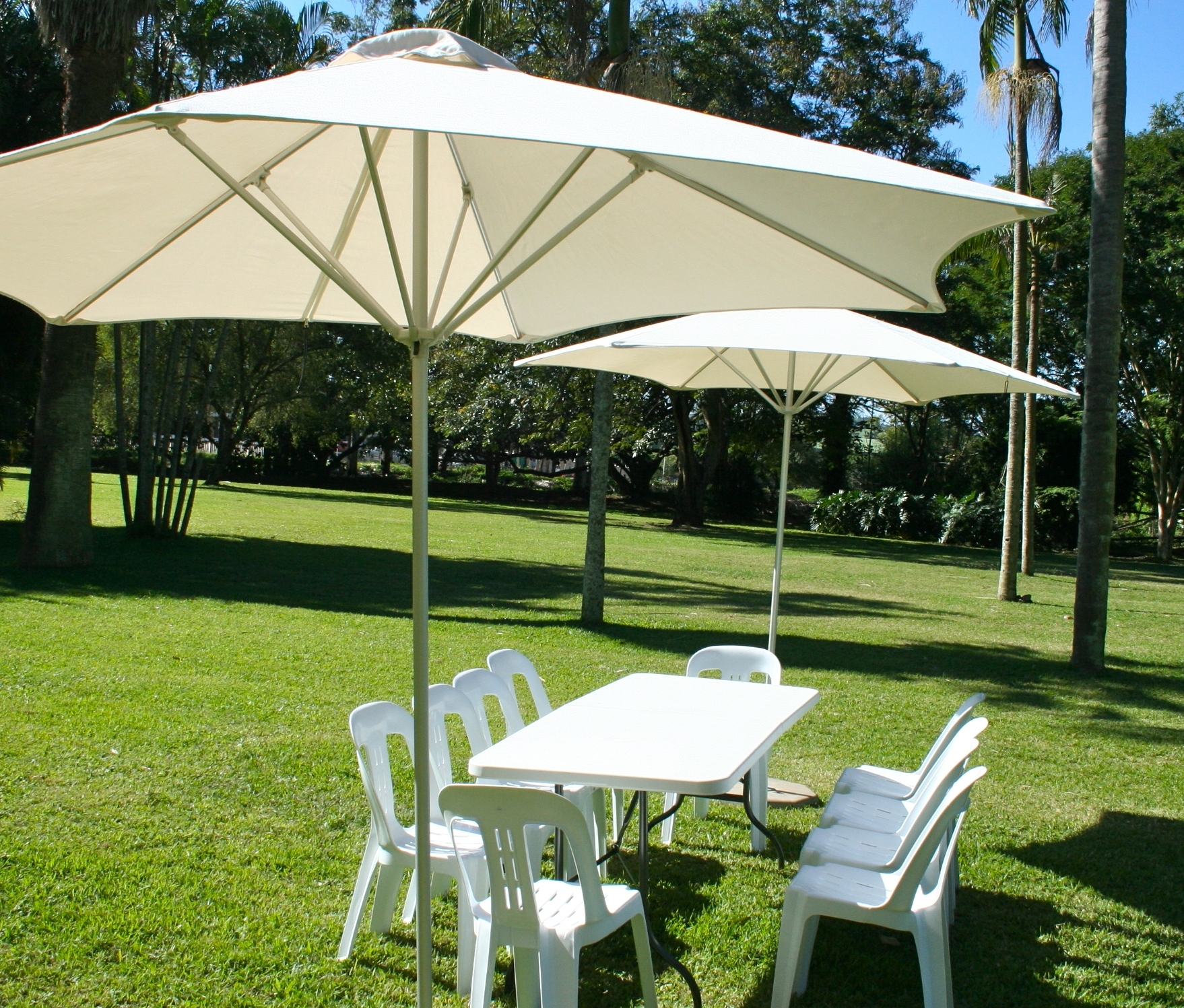 Outdoor Patio Umbrellas With Regard To Well Liked Outdoor Patio Umbrella Rental Umbrella Hire (View 13 of 20)