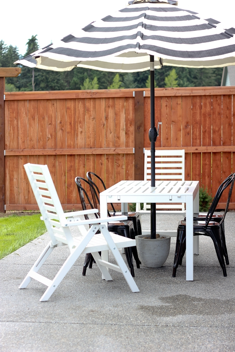 Outdoor Umbrella Stand Side Table • Side Tables Design Intended For Recent Patio Umbrella Stand Side Tables (View 17 of 20)