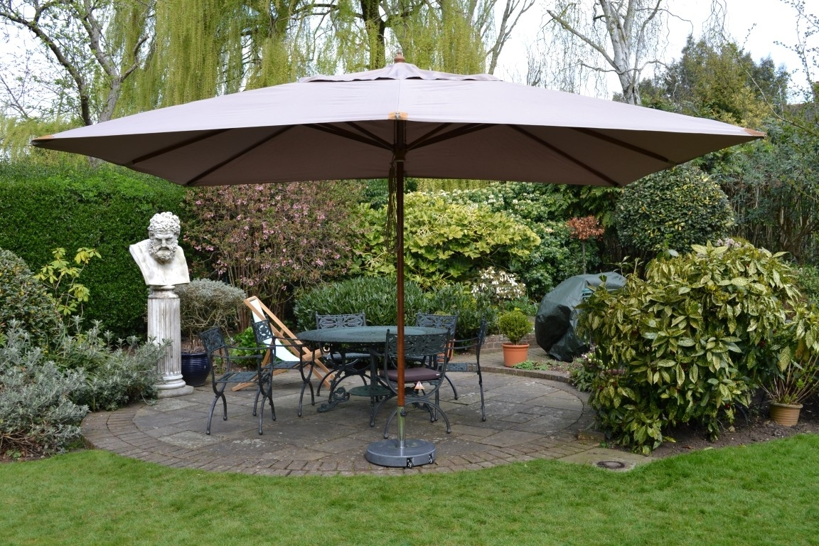Oversized Patio Umbrellas Intended For Widely Used 45 Large Patio Umbrella, Zeta Large Umbrellas Large Parasols Apex (View 9 of 20)